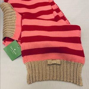 Kate Spade striped scarf